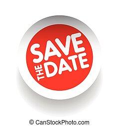 data, risparmiare, vettore, etichetta