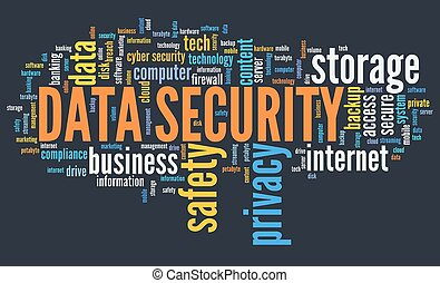 Data safety word cloud