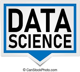data science button. sign. speech bubble push button set
