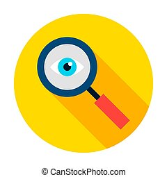 Data Search Circle Icon