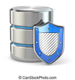 Data security. Database and shield. - Data security. ...