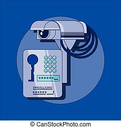 data security files icon vector ilustration