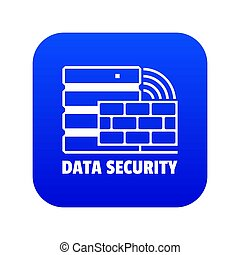 Data security icon blue