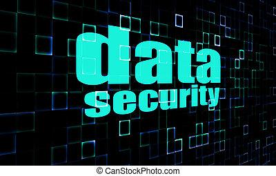 Data security on digital screen