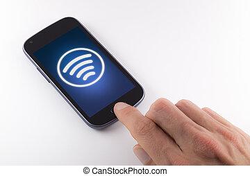 Data sent wirelessly from mobi