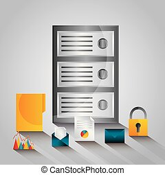 data server center technology email file security