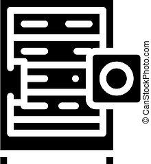 data server glyph icon vector isolated illustration