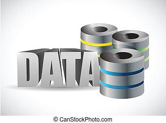 data server illustration design