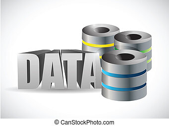 data server illustration design