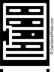 data server technology glyph icon vector illustration