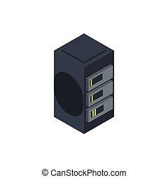 data server technology hardware device computer isometric