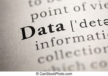 Data - Fake Dictionary, Dictionary definition of the word...