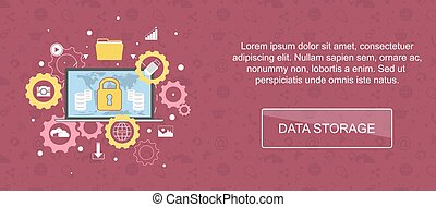 Data storage banner. - Data storage. Web banner, slider or...