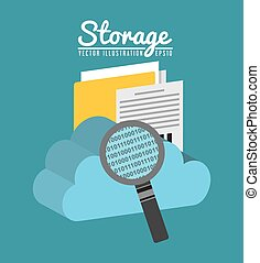 data storage center design, vector illustration eps10...