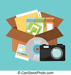 data storage center design, vector illustration eps10...