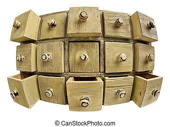 data storage concept - drawer cabinet