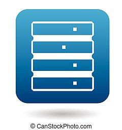 Data storage icon, simple style