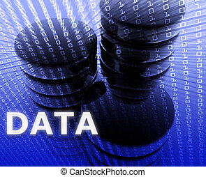 Data storage abstract, computer technology information concept illustration