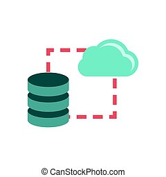 Data storage sync icon - Data storage sync flat icon