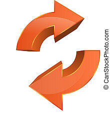Data Sync Backup Icon - This image is a vector file...