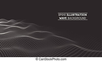Data technology abstract futuristic illustration . Low poly shape with connecting dots and lines on dark background. 3D rendering . Big data visualization .