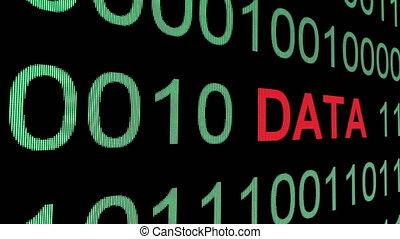 Data text over binary data