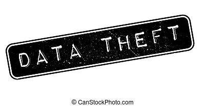Data Theft rubber stamp on white. Print, impress, overprint.