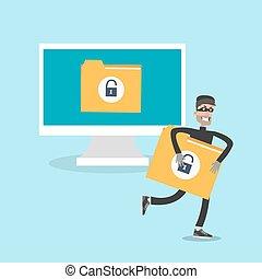 Data thief illustration.