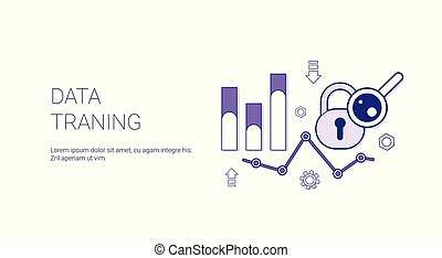 Data Traning Web Banner With Copy Space Business Finance Analysis Concept