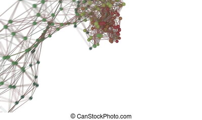Data travelling over a network. - Animation depicting data...
