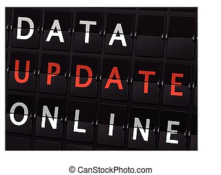 data update online words on airport board