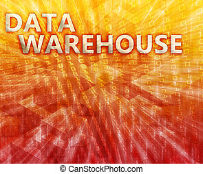 Data warehouse illustration