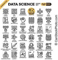 data, wetenschap, iconen