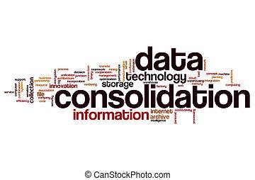 data, woord, consolidatie, wolk