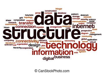 data, woord, structuur, wolk