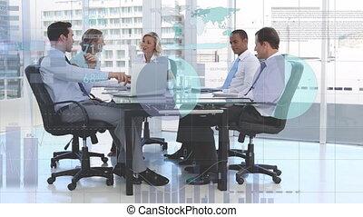 data, zakenlui, groep