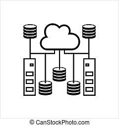 databank, base, pictogram, data, wolk, pictogram
