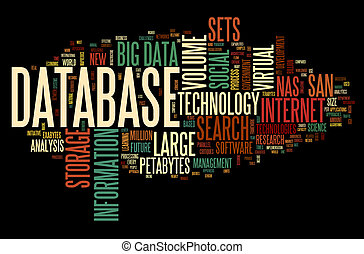 databank, concept, in, woord, wolk