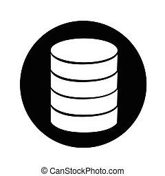 databank, ontwerp, illustratie, pictogram