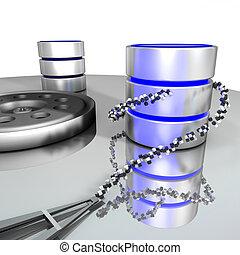 databank, storage.
