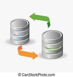databank, vector, illustration., ontwerp