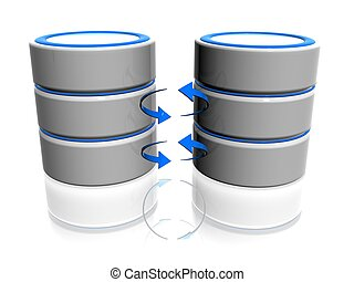 database - 3d illustration of data base