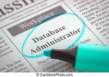 Database Administrator Hiring Now. 3D. - Database...