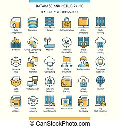 Database and networking icons 1