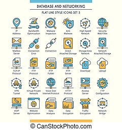Database and networking icons 3