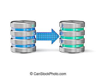 Database backup concept - Creative database backup copy...