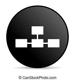 database black circle web glossy icon