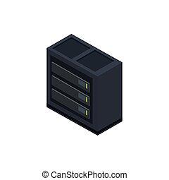 database center technology hardware device computer isometric