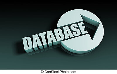 Database Concept With an Arrow Going Upwards 3D