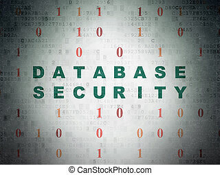 Database concept: Database Security on Digital Paper background
